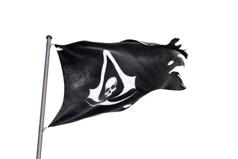 Assassin's Creed Black Flag Drapeau - Jolly Roger