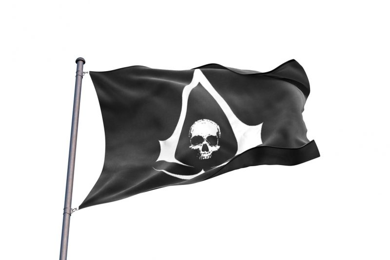 Assassin's Creed Black Flag Drapeau - Jolly Roger