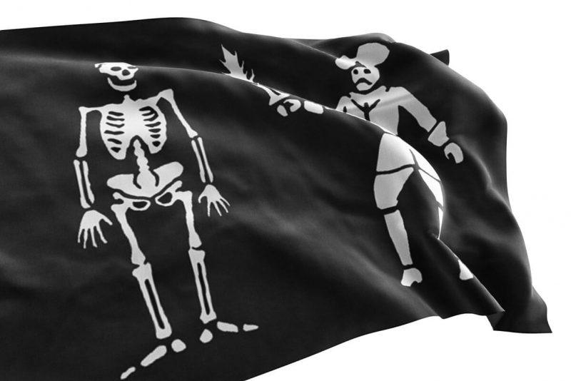 Black Bart Pirate - Jolly Roger