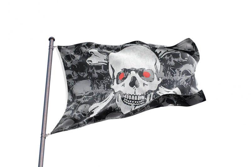 Crane Drapeau Pirate - Jolly Roger