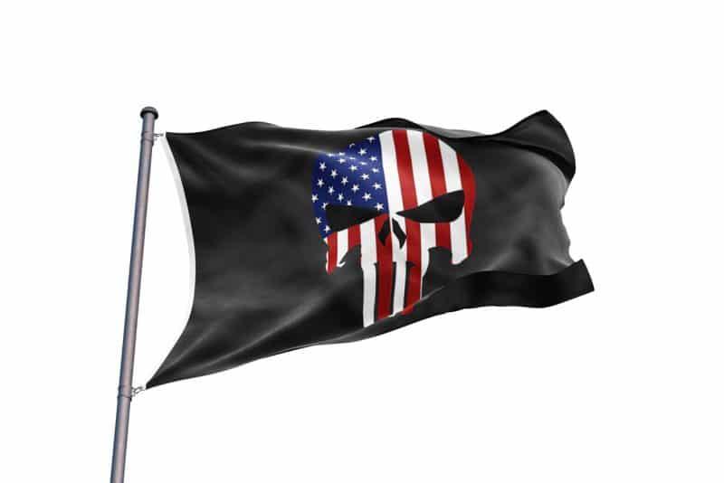 Drapeau Américain Pirate - Jolly Roger