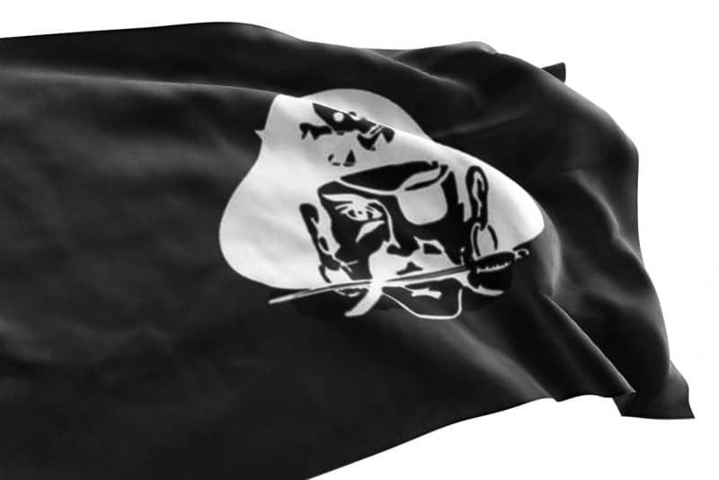 Drapeau avec Pirate - Jolly Roger