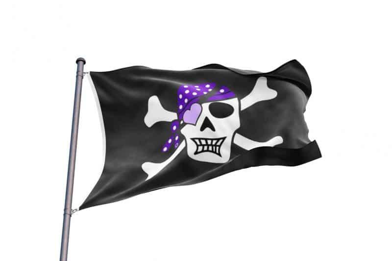 Drapeau de Pirate Aventurière Fille - Jolly Roger