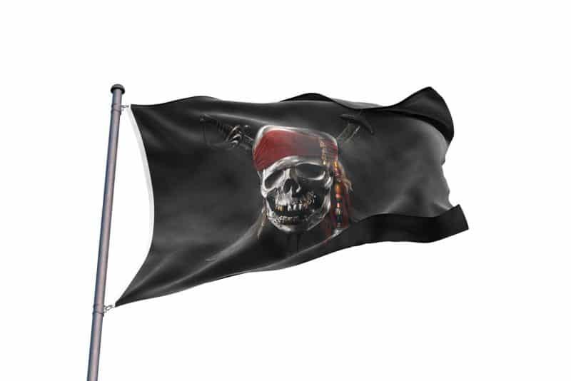 Drapeau de Pirate des Caraïbes - Jolly Roger