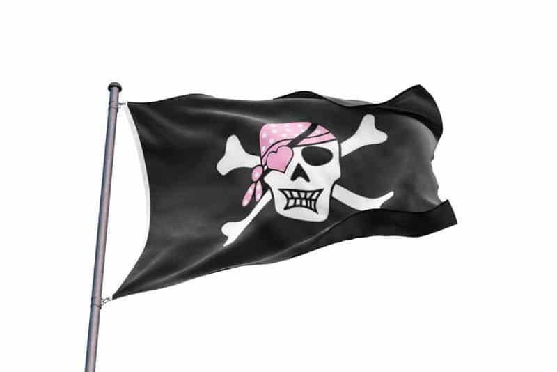 Drapeau de Pirate Fille - Jolly Roger