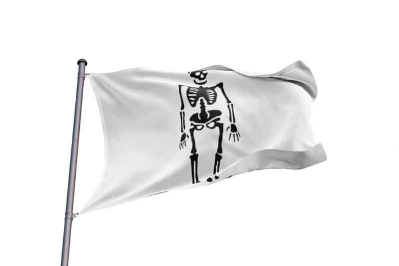 Drapeau de Pirate Noir et Blanc Drapeau Pirate Noir et Blanc - Jolly Roger
