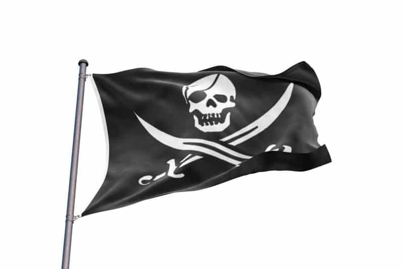 Drapeau du Black Pearl Pirate des Caraibes - Jolly Roger