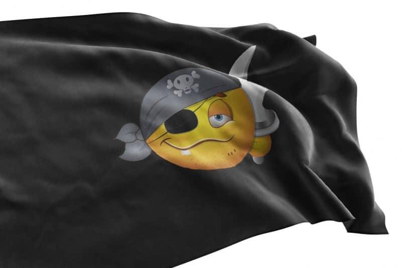 Drapeau Emoji Pirate - Jolly Roger