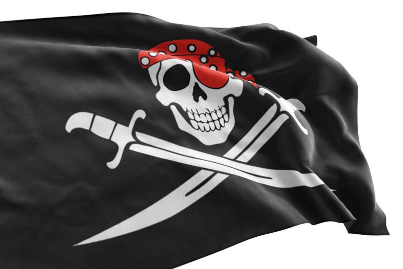 Drapeau Pirate avec Bandana Rouge - Jolly Roger