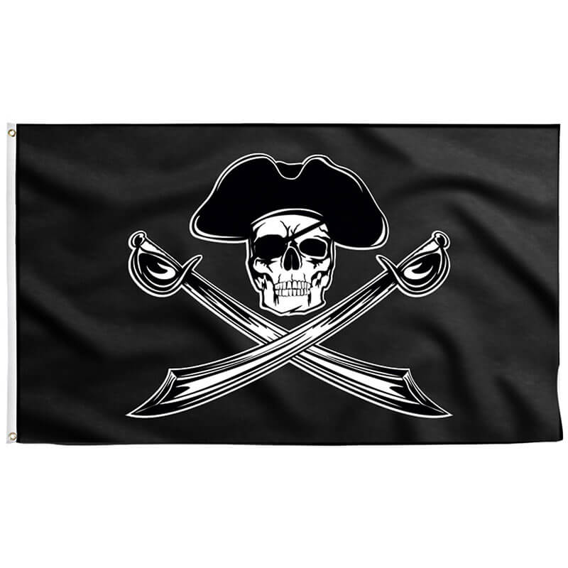 Drapeau Pirate avec Chapeau - Jolly Roger