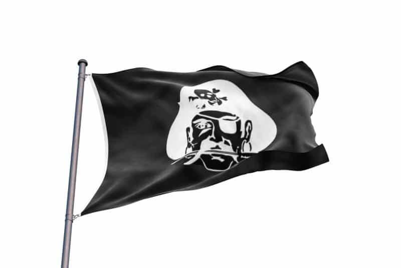 Drapeau Pirate avec épée avec chapeau - Jolly Roger