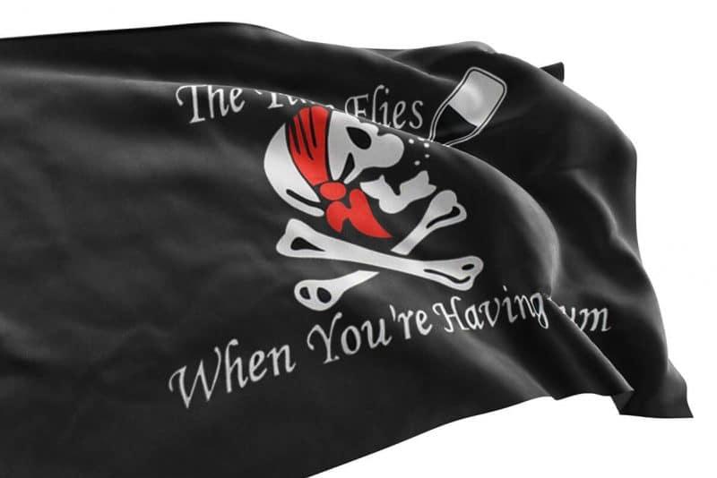 Drapeau Pirate avec Rhum - Jolly Roger
