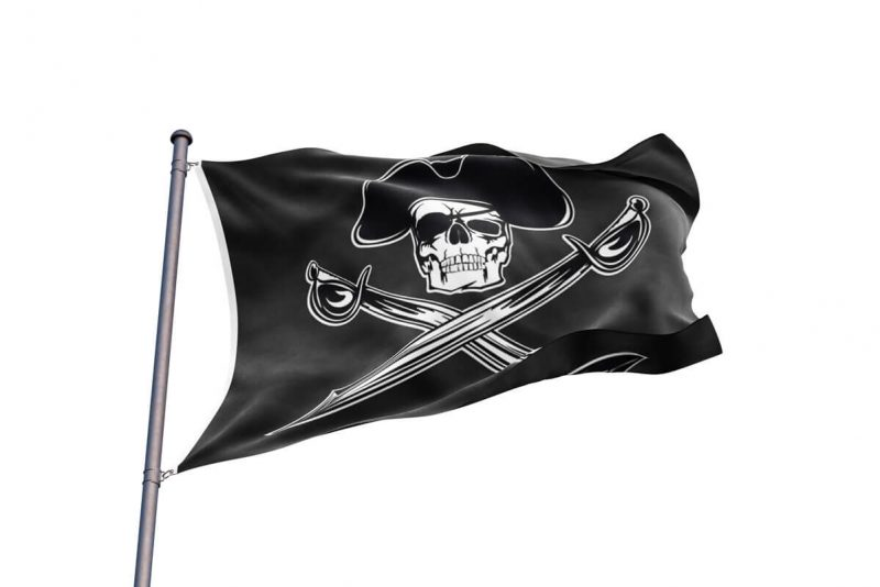 Drapeau Pirate avec Sabre - Jolly Roger