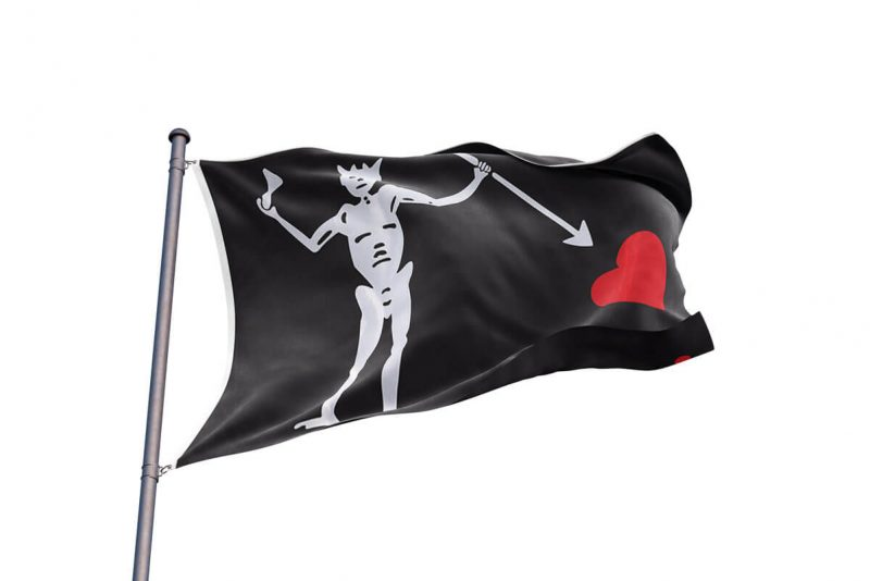 Drapeau Pirate Barbe Noir - Jolly Roger