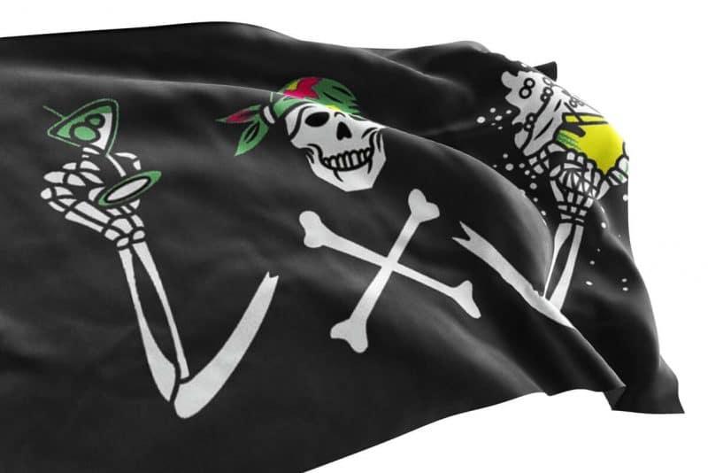 Drapeau Pirate Bière - Jolly Roger