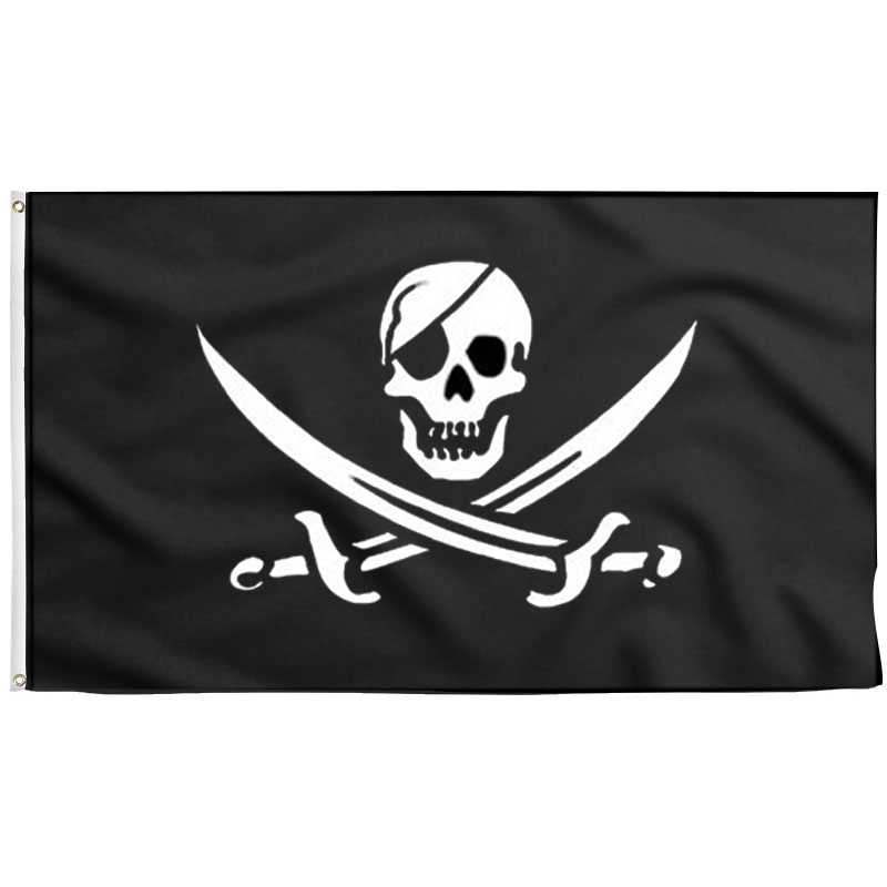 Drapeau Pirate Black Pearl - Jolly Roger