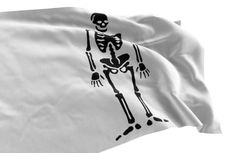Drapeau Pirate Blanc et Noir - Jolly Roger