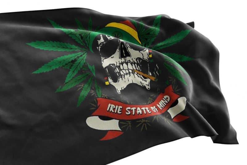 Drapeau Pirate Bob Marley Cannabis - Jolly Roger