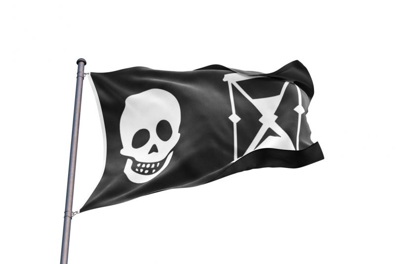 Drapeau Pirate Capitaine Napin - Jolly Roger