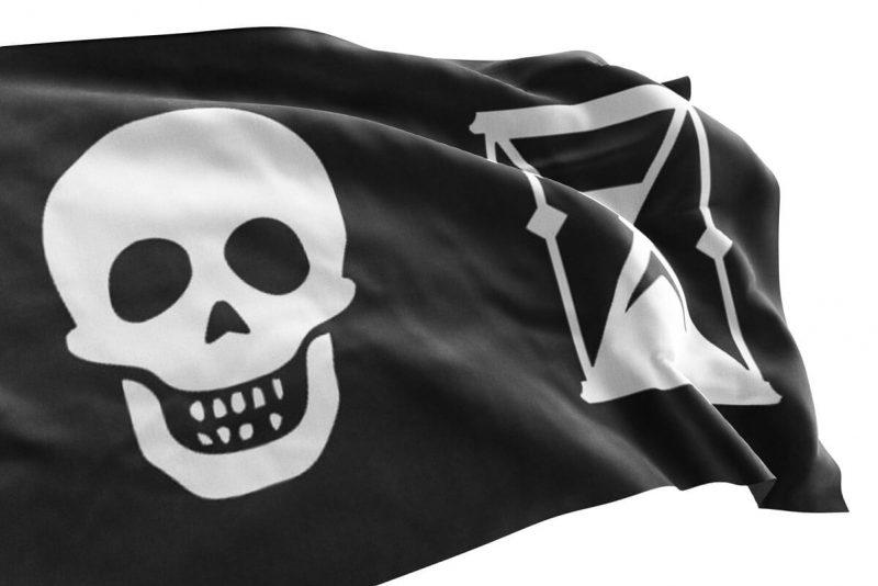 Drapeau Pirate Crâne Sablier - Jolly Roger