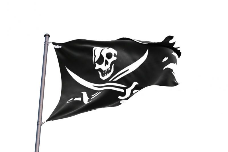 Drapeau Pirate Déchirer - Jolly Roger