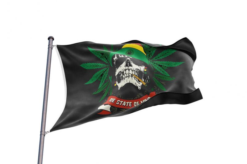Drapeau Pirate Dessin Rasta - Jolly Roger