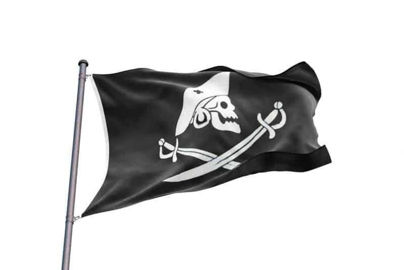 Drapeau Pirate Edward England - Jolly Roger