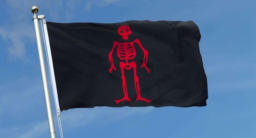 Drapeau Pirate Edward Low - Jolly Roger