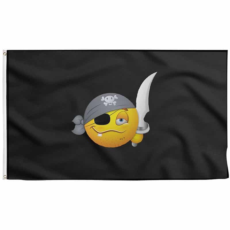 Drapeau Pirate Emoji - Jolly Roger