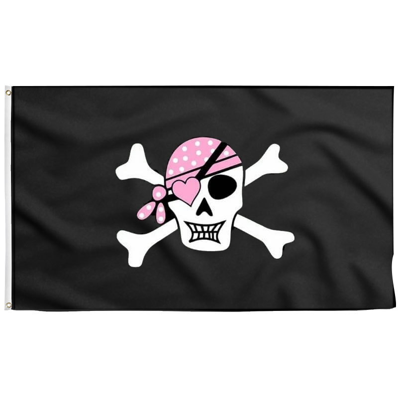 Drapeau Pirate Fille - Jolly Roger