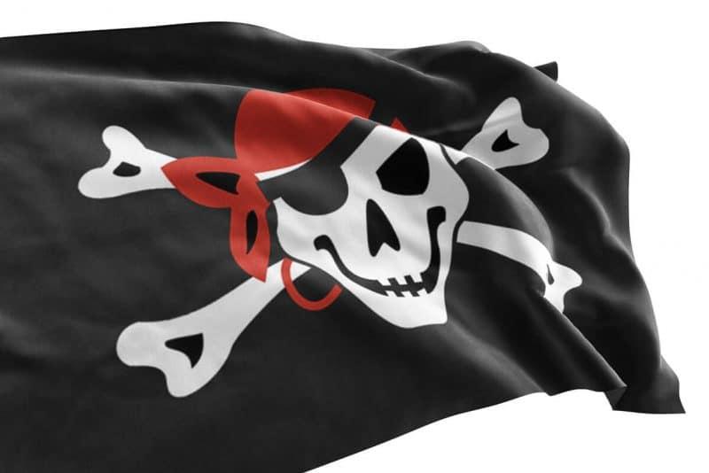 Drapeau Pirate Foulard Rouge 15x90 drapeau 90 x 150 cm - Jolly Roger