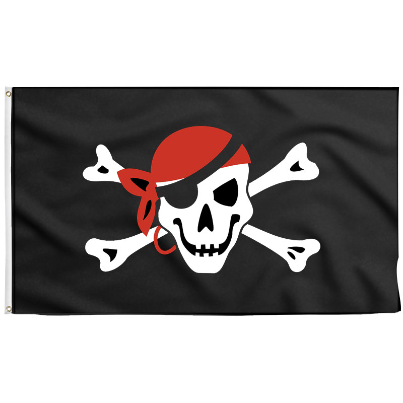Drapeau Pirate Foulard Rouge - Jolly Roger