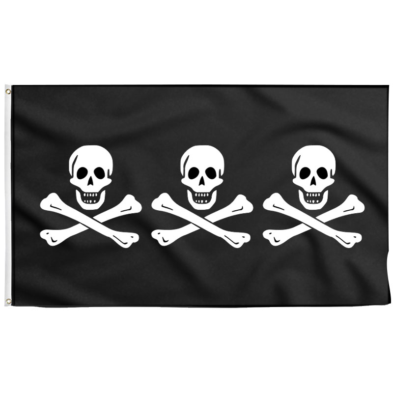 Drapeau Pirate Historique Christopher Condent - Jolly Roger