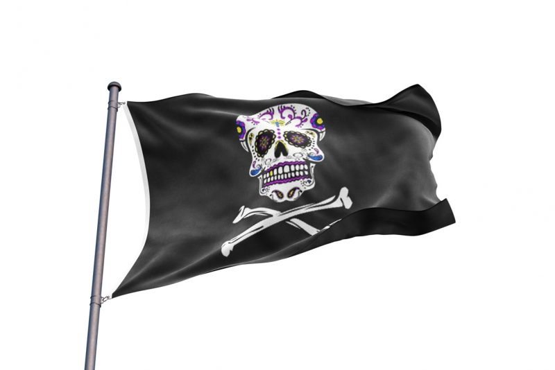 Drapeau Pirate Mexicain - Jolly Roger