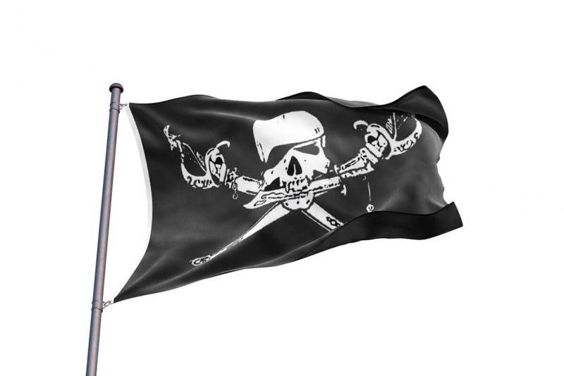 Drapeau Pirate Mort Violente- Jolly Roger