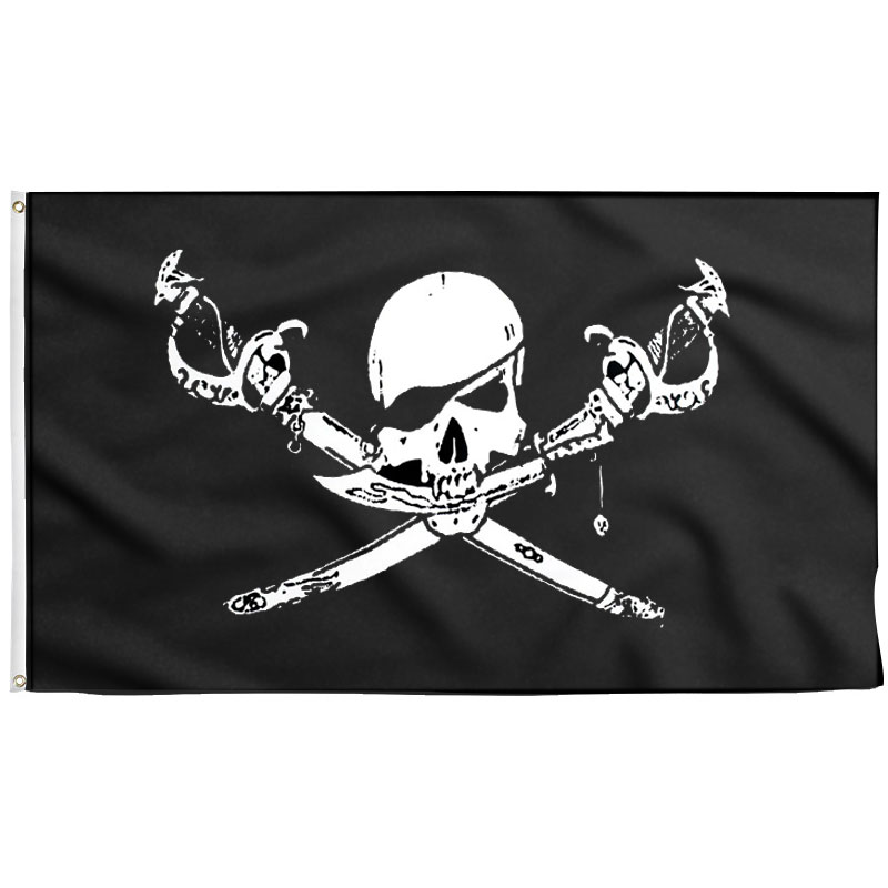 Drapeau Pirate Pas de Quartier - Jolly Roger