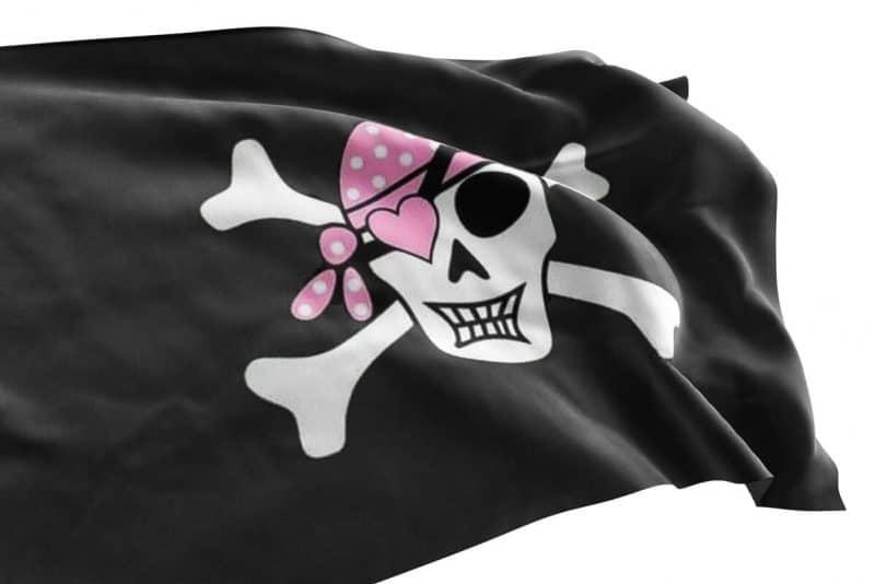 Drapeau Pirate pour Fille - Jolly Roger