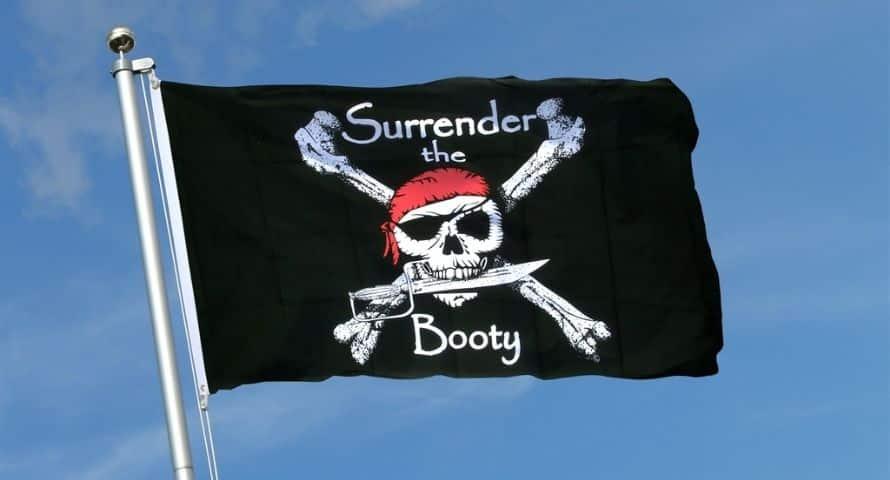 Drapeau Pirate Rendez Le Butin - Jolly Roger