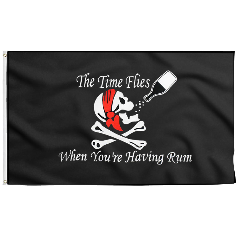 Drapeau Pirate Rhum - Jolly Roger