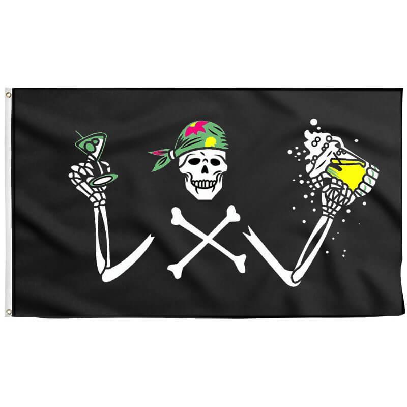 Drapeau Pirate Rigolo - Jolly Roger