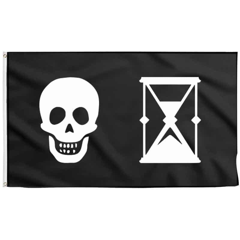 Drapeau Pirate Sablier - Jolly Roger