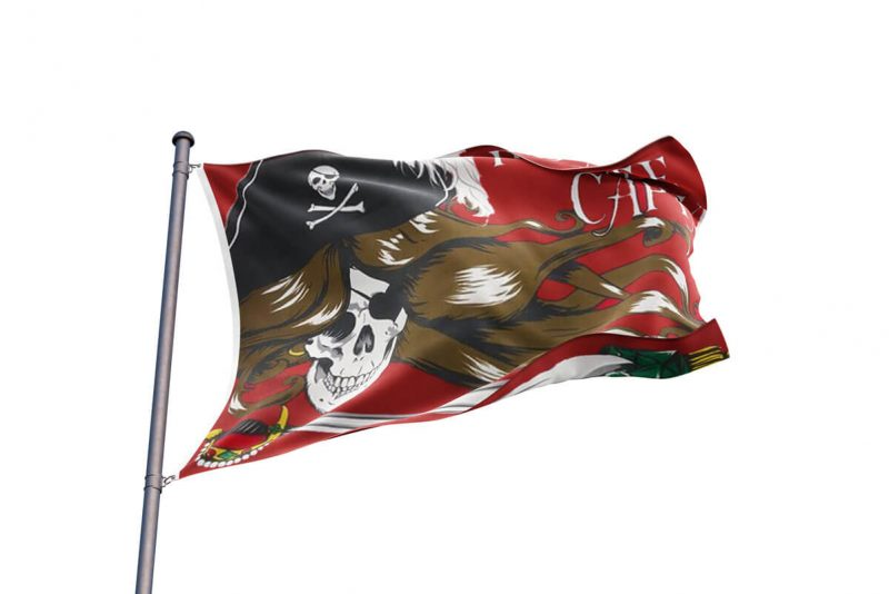 Drapeau Pirate Sang Femme - Jolly Roger