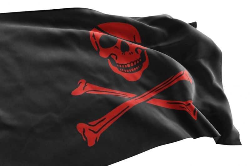 Drapeau Pirate Squelette Rouge - Jolly Roger