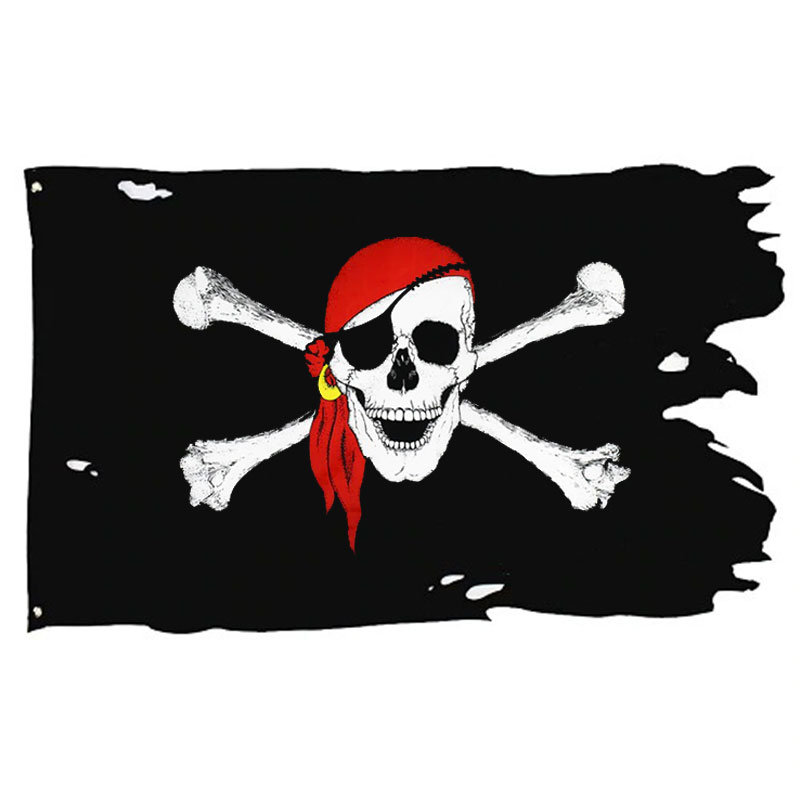 Drapeau Pirate Usé - Jolly Roger