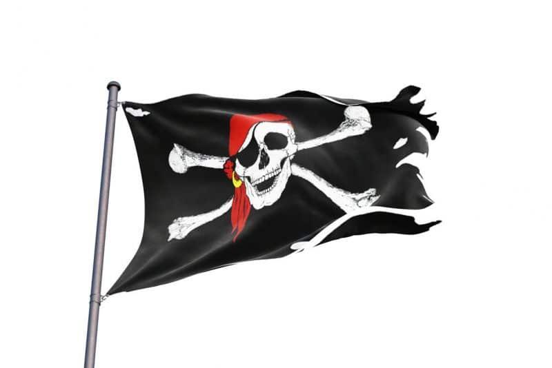 Drapeau Pirate Usé - Jolly Roger