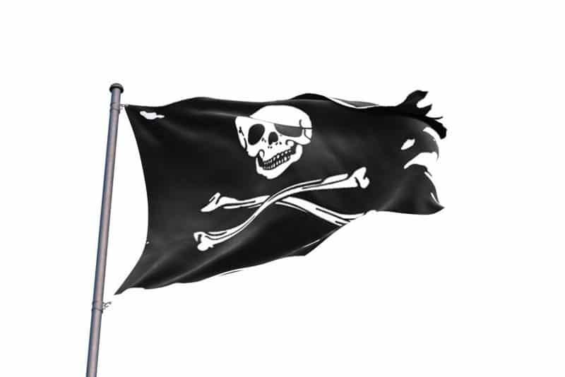 Drapeau Pirate Vieux - Jolly Roger