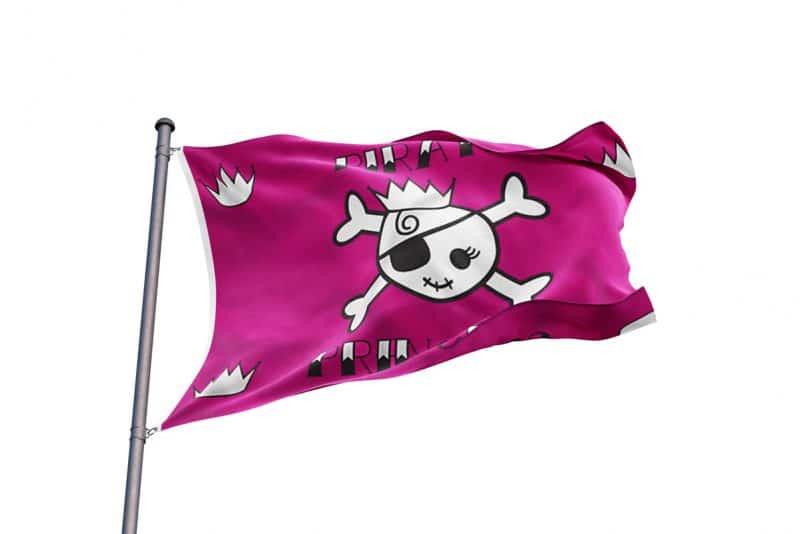 Drapeau Princesse Pirate - Jolly Roger