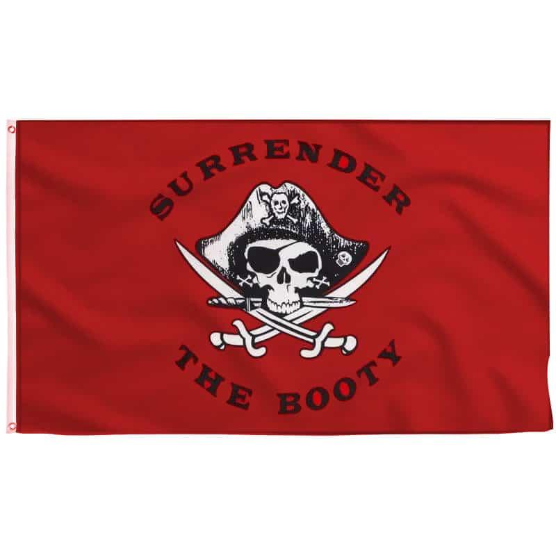 Drapeau Rouge des Pirates - Jolly Roger