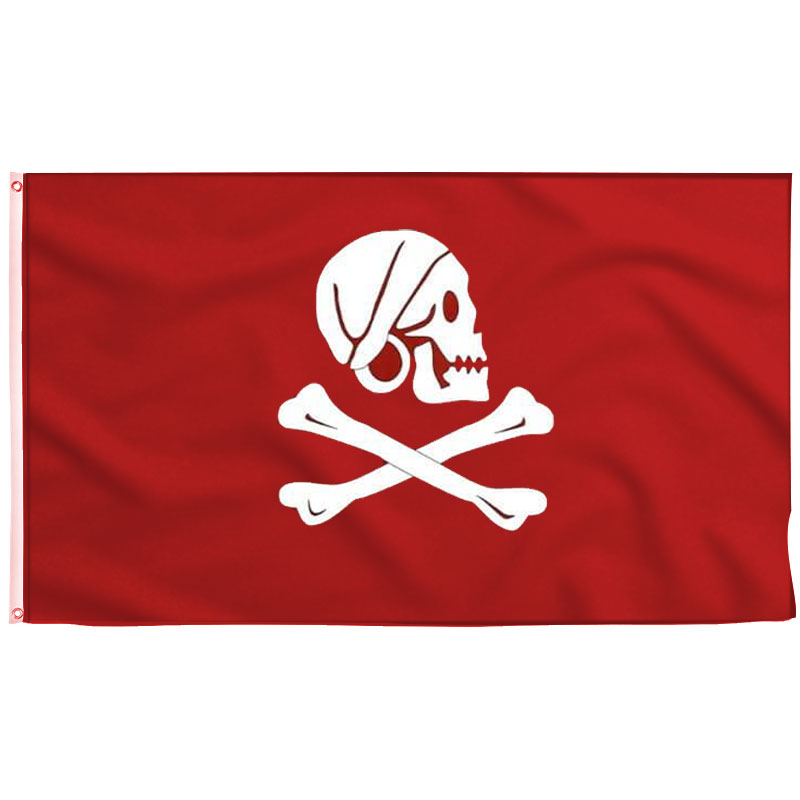 Drapeau Rouge Pirate Henry Avery - Jolly Roger