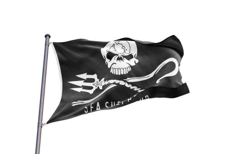 Drapeau Sea Shepherd - Jolly Roger